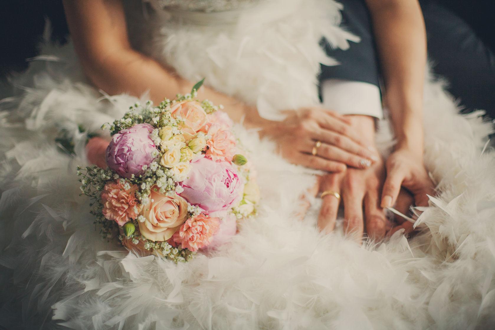 Close up wedding bouquet